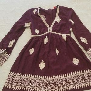 Eggplant XS dress long sleeve
